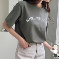 메리바움 [ 1+1 / 기획특가 ] 117983 어게인 레터링 반팔 티셔츠 여성 반팔티 (TOP 5352231612)