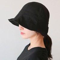 이코마켓 코튼 벙거지 모자 사계절 여성모자 보넷모자 자외선차단 챙모자 챙넓은모자  (POP 4923646912)