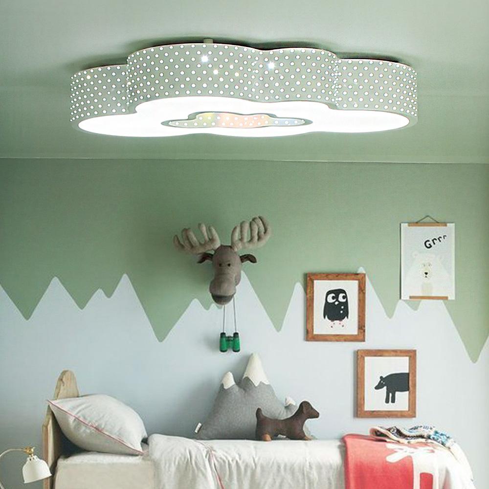 예스케이라이팅 LED방등 구름이50W 키즈방등 아이방등 어린이방등 LG정품칩 천장등/실링라이트, 화이트
