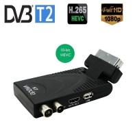 최신 DVB T2 H265 Hevc Tv 튜너 지원 10Bit Youtube MeeCast USB WIFI 전체 DVB T H264 Scart Hdtv 출력과 호환, EU 플러그 추가 영국 (TOP 5558257045)