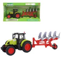 농부 트랙터 알로이 장난감 자동차 새 시뮬레이션 1:16 조명과 함께 당기기, D (TOP 5227521616)