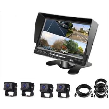 화물차블랙박스 - AHD 화물차 버스 4채널블랙박스 후방카메라, 7인치 + 카메라 사각4개