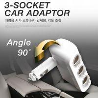 차량용 시가잭 소켓 3구 LED 일체형 시거잭 충전기, 1개 (POP 5429489802)
