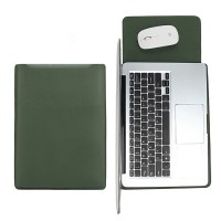아카빌라 삼성 맥북 에어 프로 M1 노트북 갤럭시북 이온2 플렉스2 13 15인치 패드 가죽 파우치 케이스, 다크그린 (TOP 4842818731)