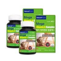 네추럴팜 메가 비타민b 컴플렉스 고함량비타민b 8가지 비타민b군 건강기능식품, 180정, 1100mg (TOP 4789380277)