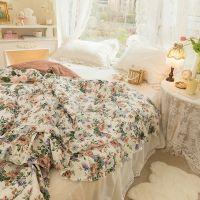 싱글 더블 알레르망 여름 쿨링 기숙사 면 이불세트 부드러운 여름 빈티지 꽃 레이스 모던, H (POP 5768728886)