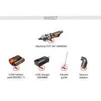 Worx 20V 전기 톱 WX527 무선 원형 톱 85mm 고성능 충전식 전동 공구, 러시아, 주황색, 유럽 연합 (TOP 5614050151)