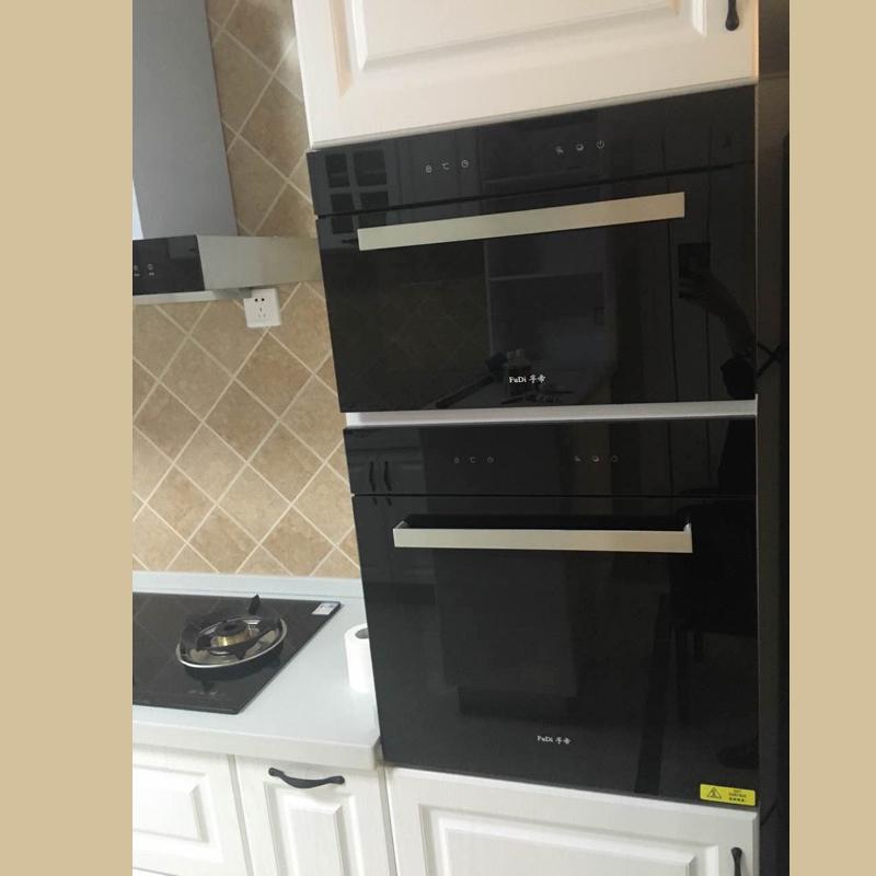전자레인지 오븐 세트 매입형 가정용 베이킹 전기오븐 대용량 식전기 찜기, T01-블랙