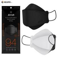 숨쉬기편한 에어리쉬 KF94 블랙 마스크 100%국내산 자재 4중필터 대형 국산 일회용 마스크, 50매 (TOP 5393371802)