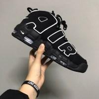 나이키 에어 모어 업템포 블랙 화이트 2020 Nike Air More Uptempo Black White 2020 414962-002 (TOP 4347963938)
