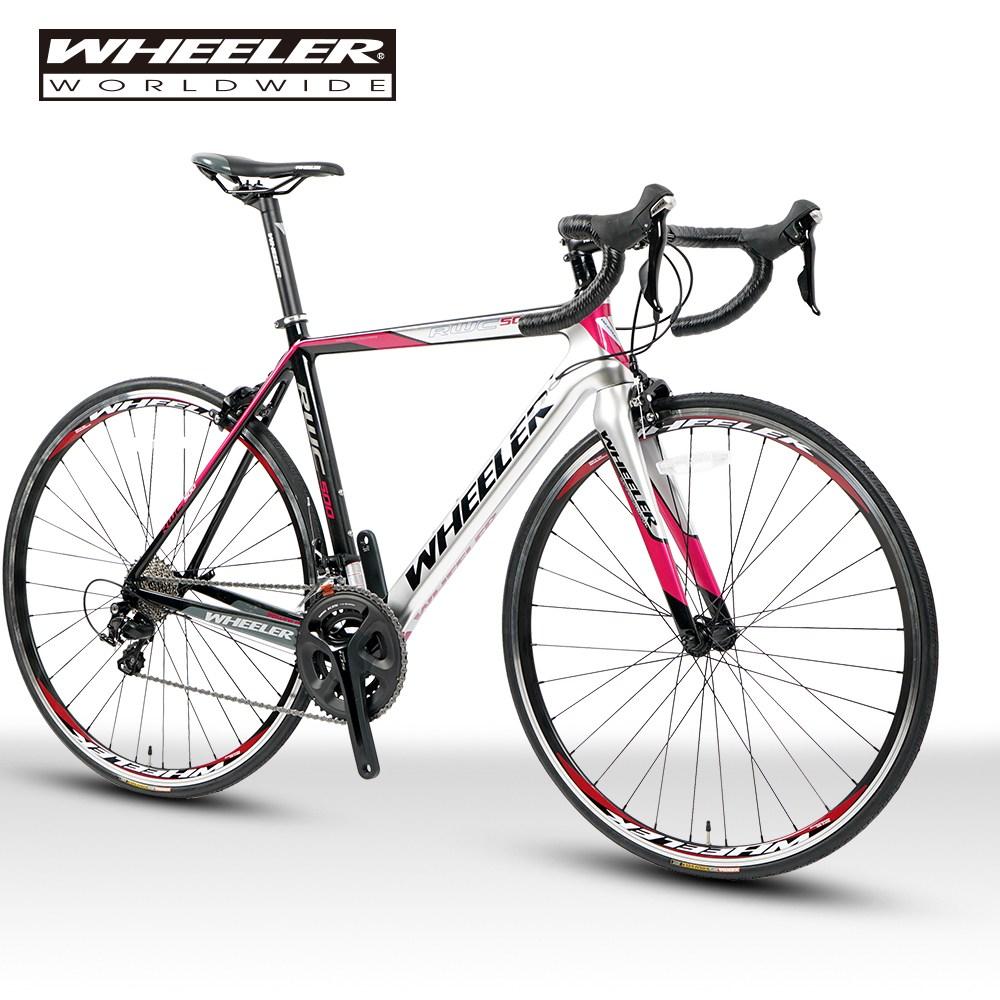 휠러코리아 RWC500 로드 자전거, 블랙핑크/완전조립