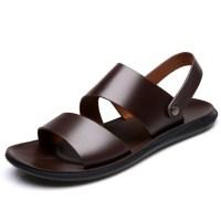 2021 토앤토 쪼리 플립플랍 여름 남성 남자 플랫 샌들 신발 패션 슬리퍼 신발 가죽 부드러운 통기성 캐주얼 여름 비치 블랙 (TOP 5844903926)
