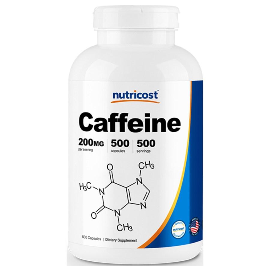 뉴트리코스트 카페인 200mg 1서빙 200mg Caffeine Capsules [200 MG], 500캡슐