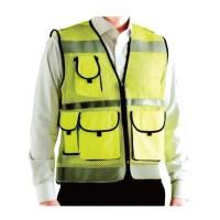 경찰조끼 보안 교통안전 형광 주황 야광 검정 망사, 형광색 (TOP 1343270521)