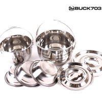 BUCK703 3중 바닥 스텐코펠 세트 3-4인용, 7p (TOP 21213360)