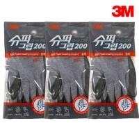 3M 슈퍼그립 200 안전장갑 코팅장갑, S, 3개 (TOP 182188910)