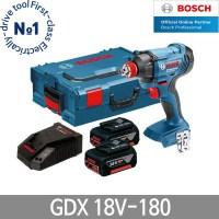 보쉬 GDX18V-180 충전임팩렌치 드라이버 6.0Ah 배터리, 5.0Ah 배터리 1개 (TOP 189251930)