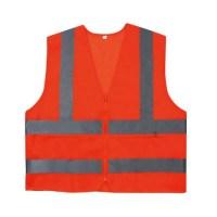신호수조끼 형광색 주황색 2종 컬러선택- 로고 문구 열전사인쇄 (TOP 195607786)