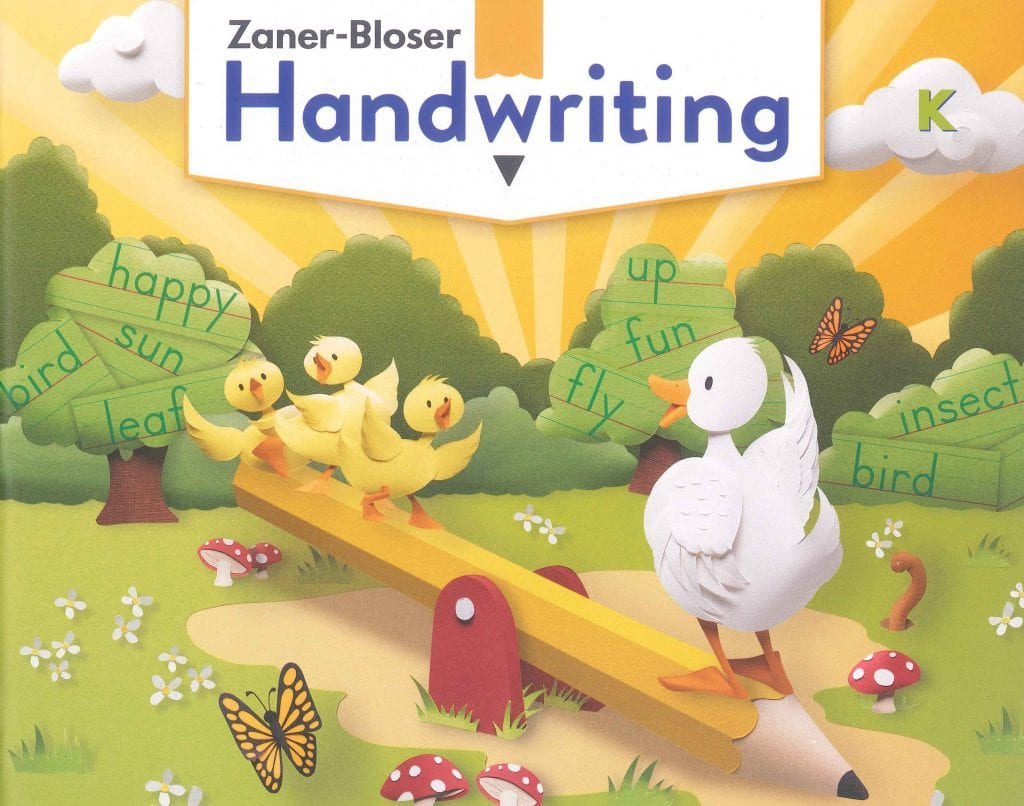 Best Price On Zaner Bloser Handwriting Kindergarten