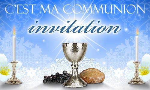 carte communion invitation