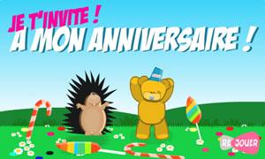 cartes invitation anniversaire