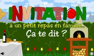 cartes invitation diner virtuelles