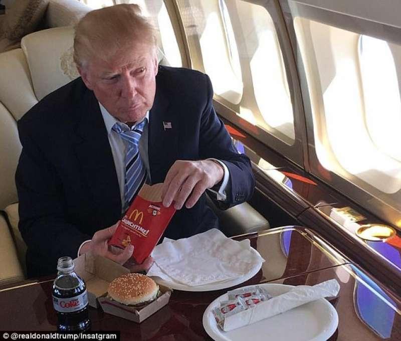 trump mangia mcdonalds