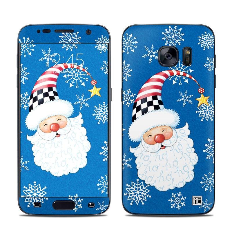 Samsung Galaxy S7 Skin Santa Snowflake By Mary