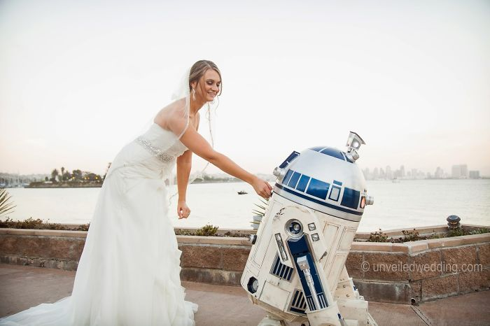 5df743d2e16d6 star wars wedding cory carrie shields 4 5df202c366eef  700 - Casal teve um casamento com o tema Star Wars