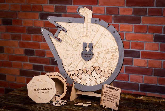 5df743dcadcc7 star wars wedding cory carrie shields 5df23b9cb9902  700 - Casal teve um casamento com o tema Star Wars