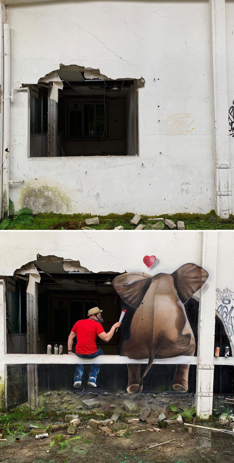 5ef59f0b6bcb9 The graffiti of this French street artist seems to come alive and come off the walls 5ef33f37f1598  880 - Os grafites em 3D de Scaf