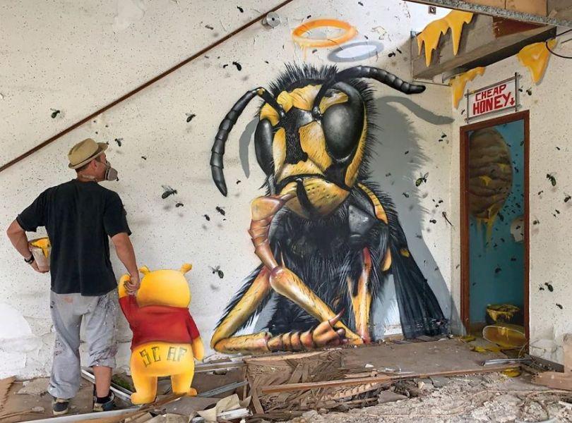 5ef59f15c9c4e The graffiti of this French street artist seems to come alive and come off the walls 5ef33fd1f052e  880 - Os grafites em 3D de Scaf