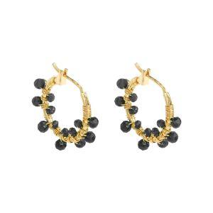 Oorbellen Colorful Crystal Beads Zwart