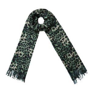 Sjaal Leopard Spots Green