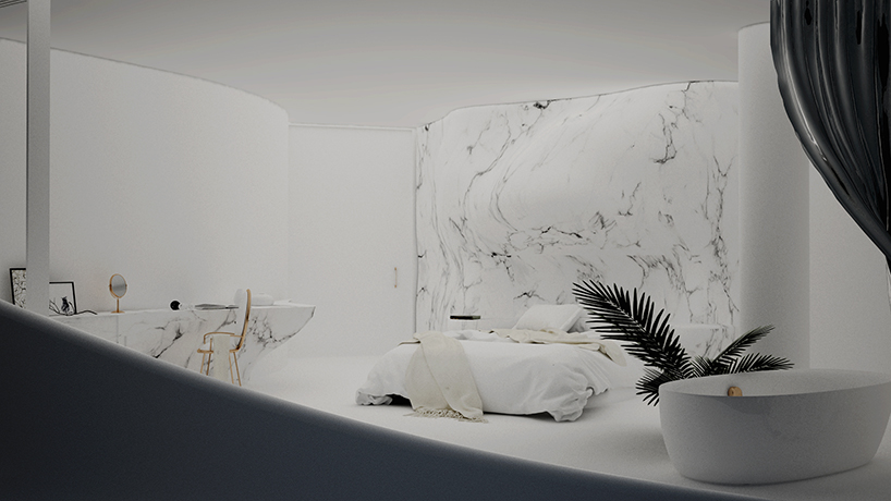 organic curves define 314 architecture studio's proposed house on the greek coast designboom