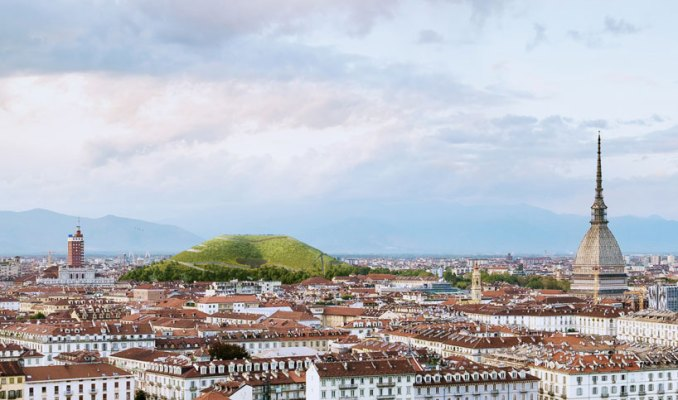 sponge mountain in turin absorbs CO2 from the atmosphere, by angelo renna designboom