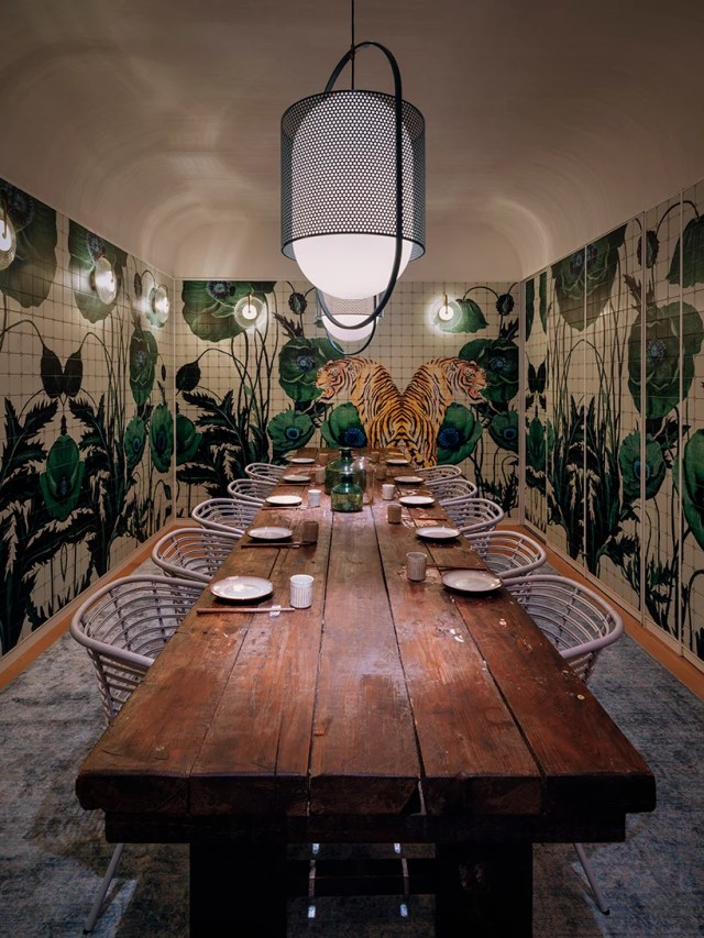 dim sum restaurant in hong kong by linehouse turns british tea hall into chinese canteen designboom