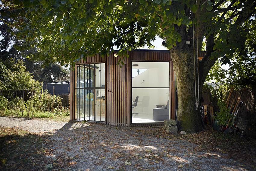 JCPCDR transforms garden shed into 'the forest house' in french countryside
