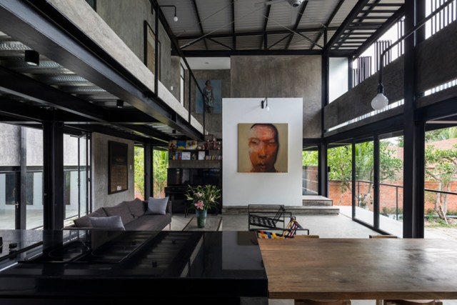 truong an architecture designs modern stilt house for artist in saigon, vietnam