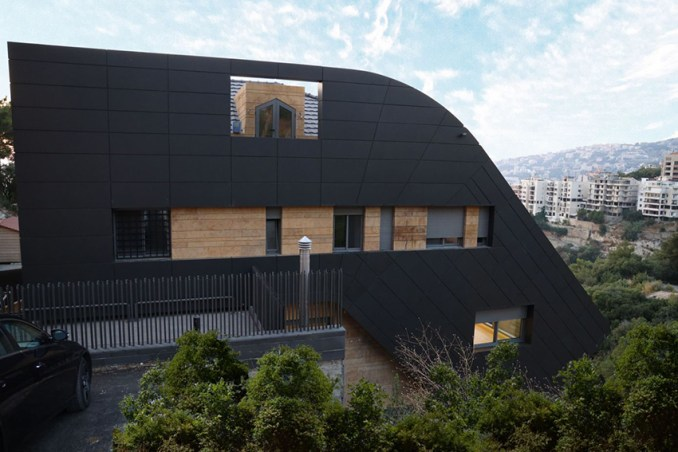 DAZARCHITECTS designs a family house to step into a cliffside in lebanon designboom