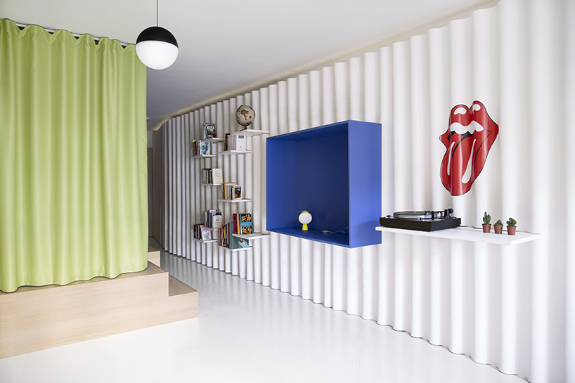 lime curtains define space and provide