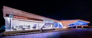 honda's nakornchaisri showroom designed by office AT
