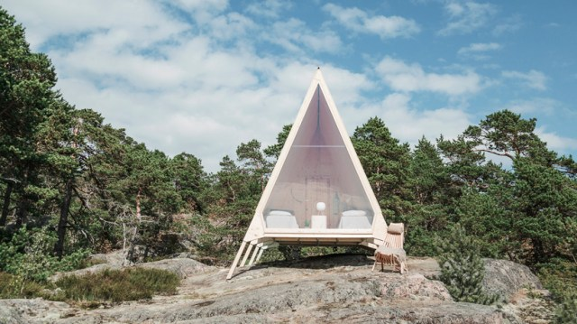 the nolla cabin is a zero-emission dwelling kitted out in sustainable decor