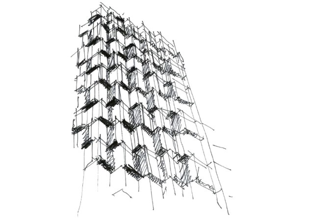 Aedas beacon hotel tower hong kong