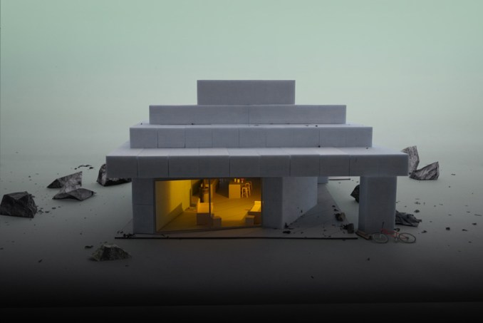 MOS architects' house no.12 is a babylonian temple built from foam blocks