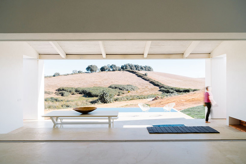 atelier data embeds cercal house in a portuguese slope designboom