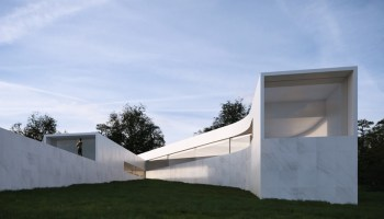 fran silvestre arquitectos roots 'coimbra-steinman house' in the surrounding topography designboom