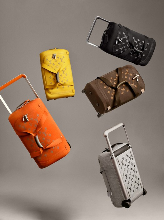 marc newson redesigns iconic louis vuitton luggage using soft thermo-formed textiles designboom