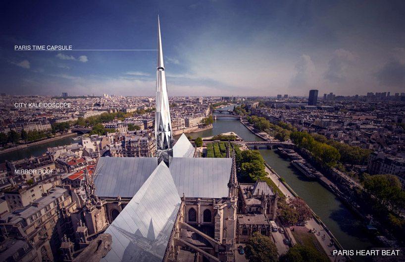 paris heartbeat by zeyu cai + sibei li wins the peoples notre dame design competition designboom