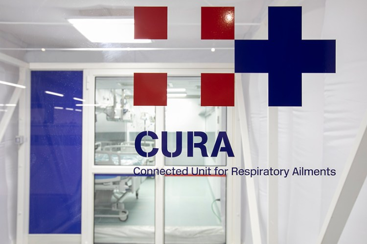 CURA shipping container ICUs open in turin to combat COVID-19